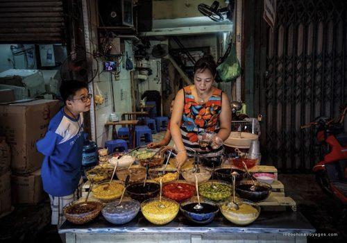 Hanoi Street Food On Low Chairs