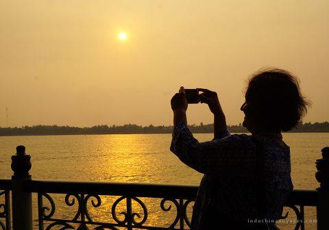 Sunset-in-Mekong-river
