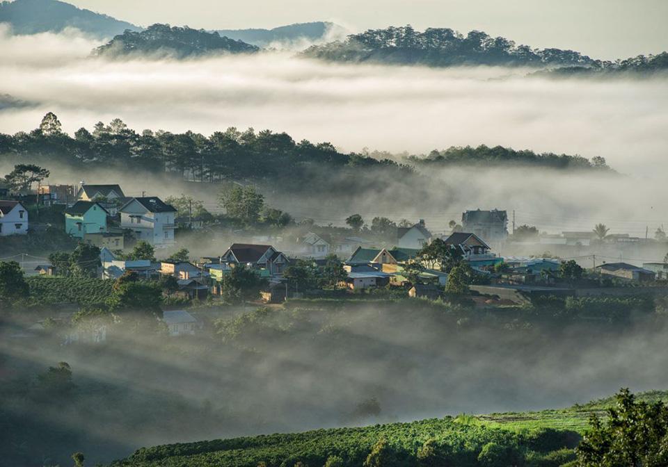 Sapa in mist in December
