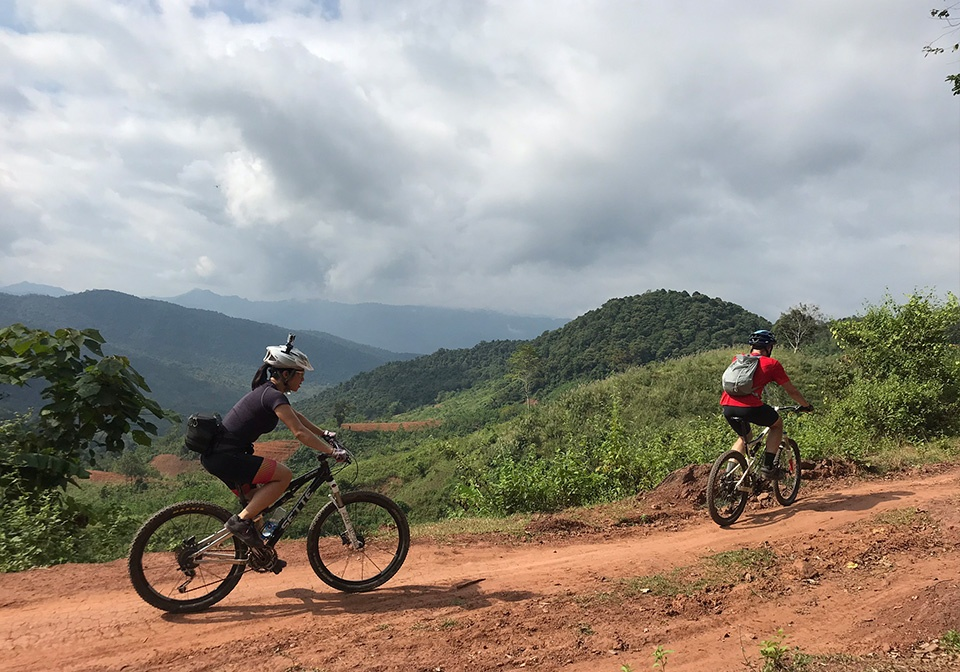 Mountain bike in Mai Chau