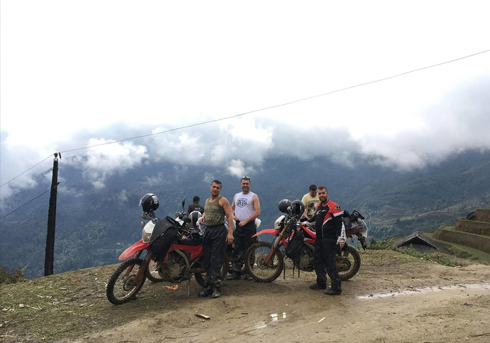 Traveling by motorbike